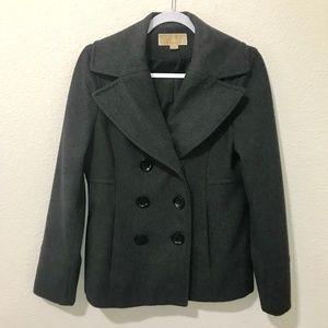 Michael Kors Wool Blend Gray Peacoat (0017)